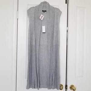 Premise Sweaters - Womens long sleeveless cardigan, NWT